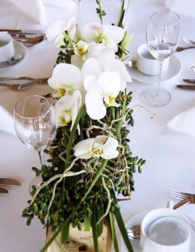 Orchideen Tischdeko