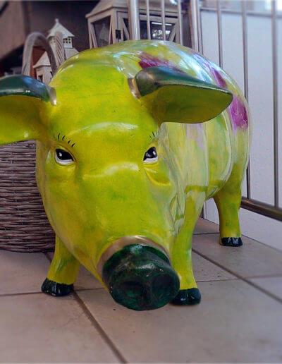 Schwein Gruen Bunt