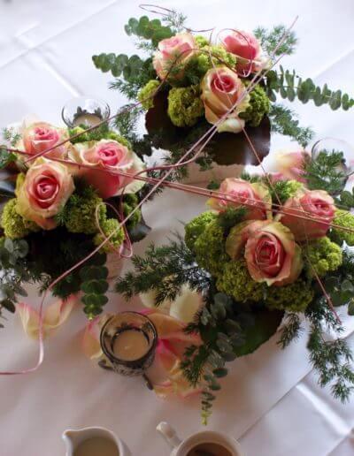Tischdeko Rosen Eucalyptus 2