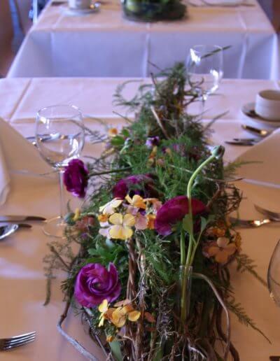 Tischgesteck Violett