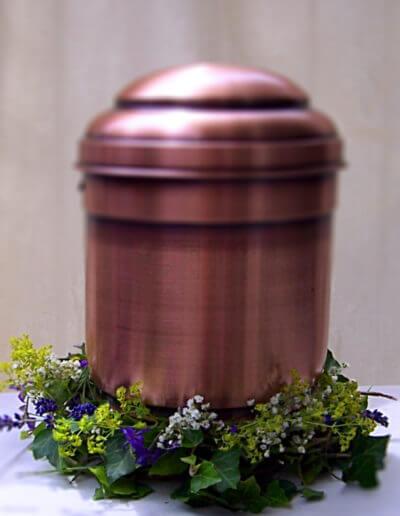 Urne Kupfer Kleine Deko